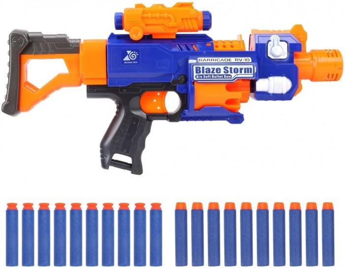 Фото - Игрушечное оружие Наша Игрушка Бластер электрифицированный с мягкими пулями 20 шт. 7055 игрушечное оружие bondibon оружие с мягкими пульками револьвер 2 в 1
