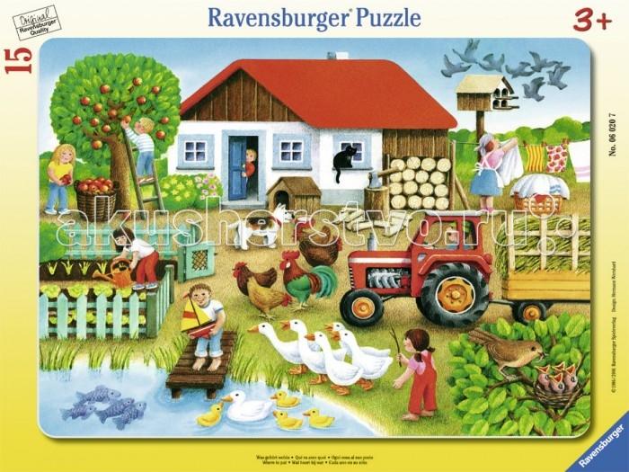 Пазлы Ravensburger Пазл Лето в деревне 15 элементов пазлы ravensburger пазл коровы на лугу 15 элементов