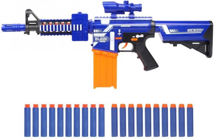 Фото - Игрушечное оружие Наша Игрушка Бластер электрифицированный с мягкими пулями 20 шт. 7054 игрушечное оружие bondibon оружие с мягкими пульками револьвер 2 в 1