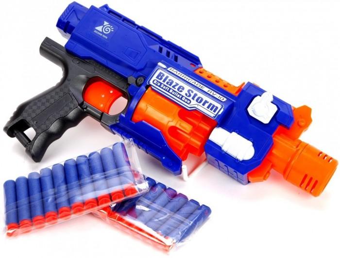 Купить Игрушечное оружие, Наша Игрушка Бластер электрифицированный с мягкими пулями 20 шт. 7053