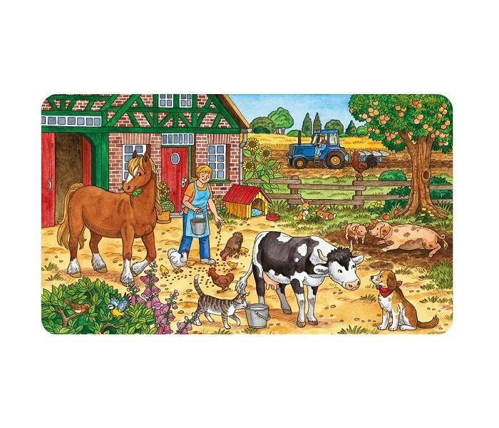 Пазлы Ravensburger Пазл Жизнь на ферме 15 элементов пазлы ravensburger пазл коровы на лугу 15 элементов