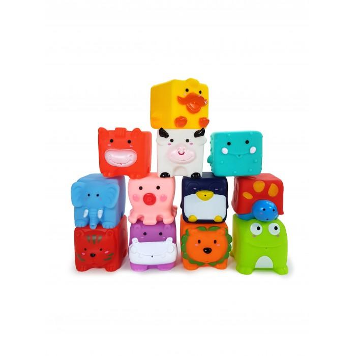 Игрушки для ванны ЯиГрушка Игрушка для ванной Забавные Кубики 12 шт.
