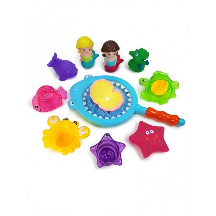 Фото - Игрушки для ванны ЯиГрушка Набор игрушек для ванной Русалки с сачком набор игрушек пома для купания гонки 4 шт