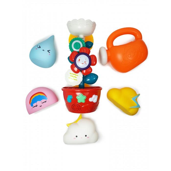 Игрушки для ванны ЯиГрушка Набор игрушек для ванной В саду с Мельницей и Формочками