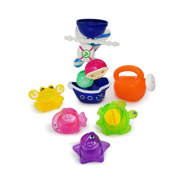 Игрушки для ванны ЯиГрушка Набор игрушек для ванной Пират с Мельницей, Лейкой и Формочками