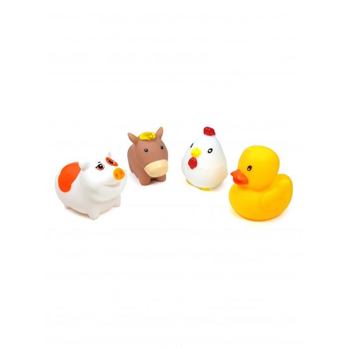 цена на Игрушки для ванны ЯиГрушка Игрушка для ванной Сельские животные Уточка, Курочка, Лошадка и Поросенок 4 шт.