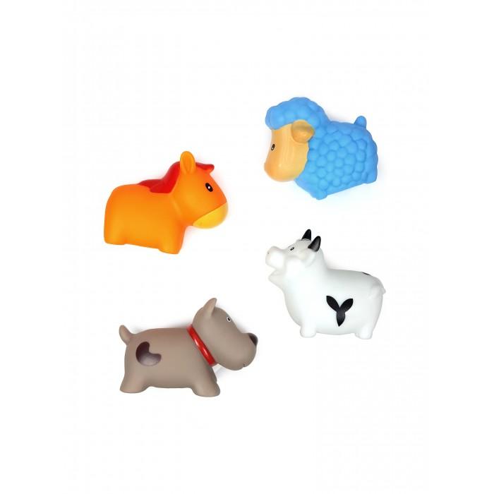 цена на Игрушки для ванны ЯиГрушка Игрушка для ванной Сельские животные Овечка, Коровка, Собачка и Лошадка 4 шт.