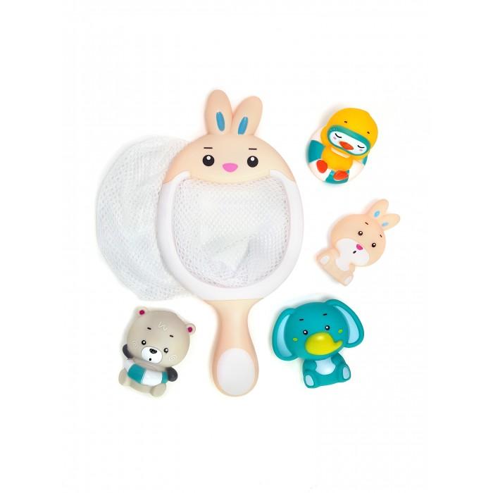 Игрушки для ванны ЯиГрушка Набор игрушек для ванной Сачок-Зайчик набор для чистки бассейна intex 29057 от 549см сачок щетка вакуумная насадка