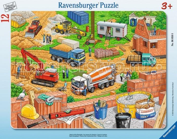 Пазлы Ravensburger Пазл Городская стройка 12 элементов