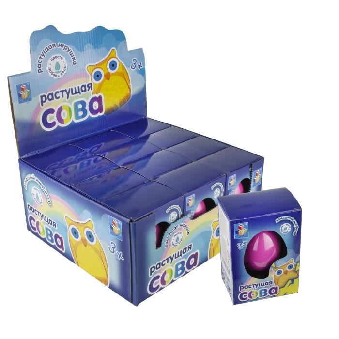 Развивающие игрушки 1 Toy Домашний инкубатор Яйцо с растущей совой
