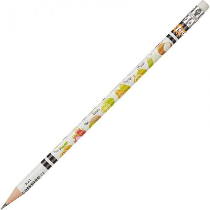 Карандаши, восковые мелки, пастель №1 School Карандаш чернографитный НВ заточенный с ластиком