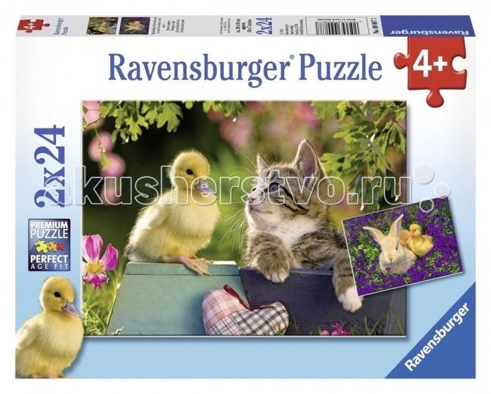 Пазлы Ravensburger Пазл Друзья утенка 2х24 элементов ravensburger пазл друзья у окна 500 деталей