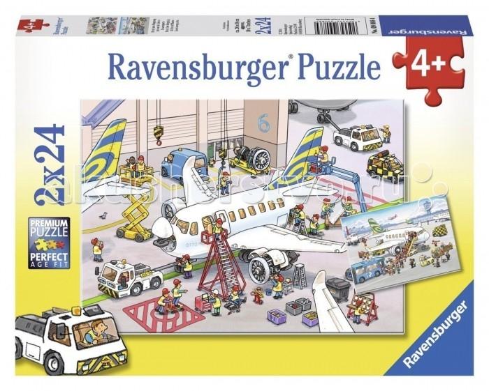Пазлы Ravensburger Пазл Все о самолетах 2х24 элементов