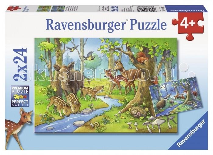 Пазлы Ravensburger Пазл Лесные жители 2х24 элементов