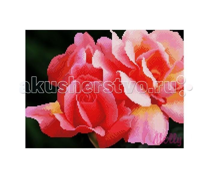 Картины своими руками Molly Мозаичная картина Коралловые розы 30х40 см картины своими руками molly мозаичная картина весенние цветы 30х40 см