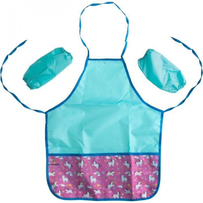 Детские фартуки №1 School Фартук для труда Unicorns с нарукавниками