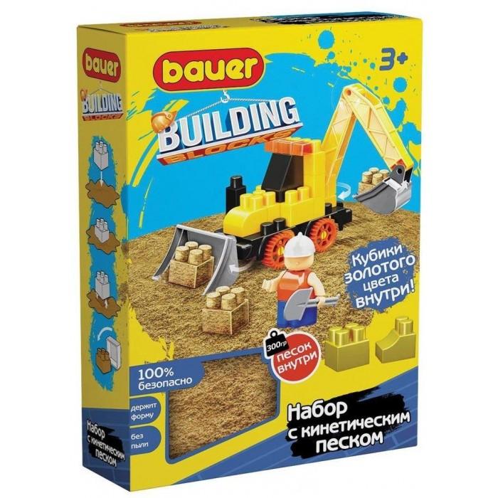 Купить Конструкторы, Конструктор Bauer Building Kinetic трактор и кинетический песок (30 элементов)