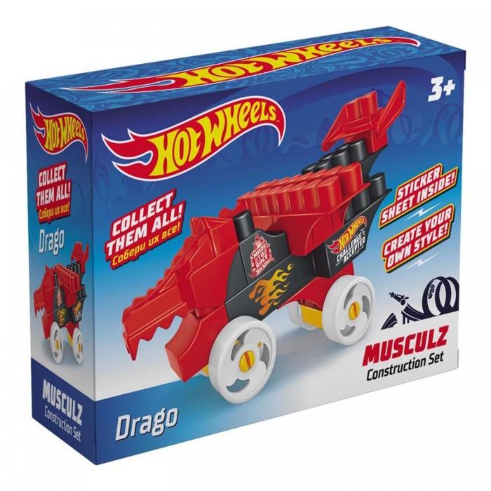Конструкторы Hot Wheels Musculz Drago (18 элементов) лев раскраска с наклейками 2005 hot wheels