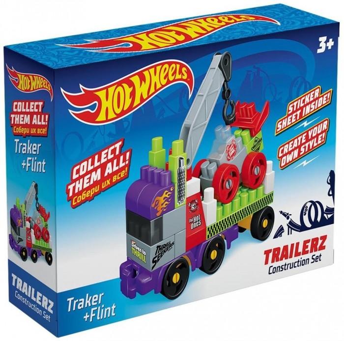 Конструкторы Hot Wheels Trailerz Traker + Flint (41 элемент)