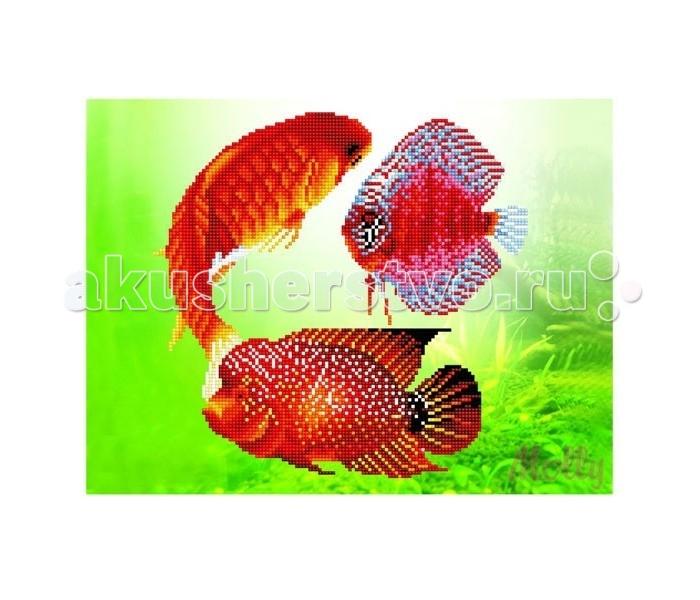 Картины своими руками Molly Мозаичная картина Золотые рыбки 30х40 см molly мозаичная картина зеленая долина 40х50 см