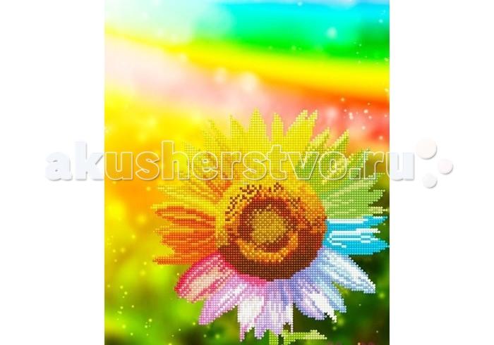 Картины своими руками Molly Мозаичная картина Радужный подсолнух 30х40 см, Картины своими руками - артикул:90465