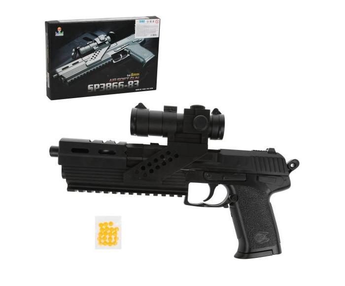 Игрушечное оружие Наша Игрушка Пистолет механический B00080 пистолет механический в