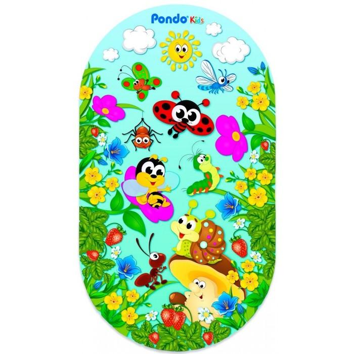 Коврик Pondo Kids для ванны Полянка 69х39 см