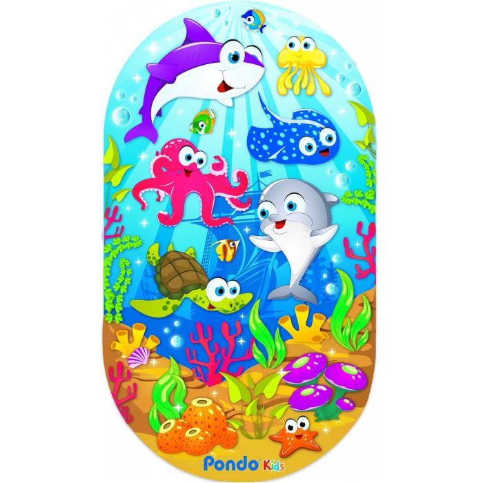 Коврик Pondo Kids для ванны Морские Обитатели 69х39 см