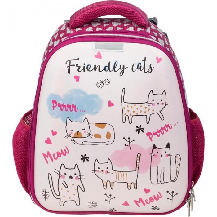 Купить Школьные рюкзаки, №1 School Ранец Friendly cats (экокожа)
