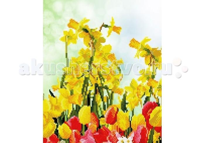 Творчество и хобби , Картины своими руками Molly Мозаичная картина Весенние цветы 30х40 см арт: 90525 -  Картины своими руками