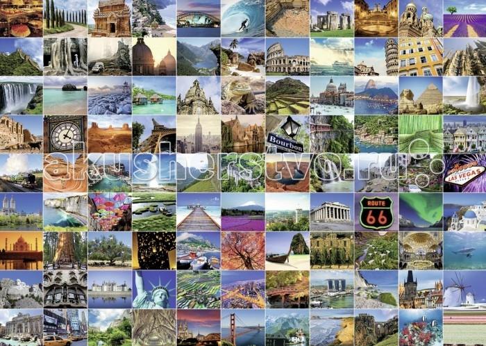 Пазлы Ravensburger Пазл 99 красивейших мест на Земле 1000 элементов пазлы ravensburger паззл маяк на полуострове брус 1000 шт