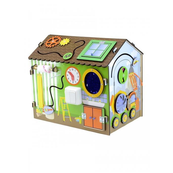 Деревянная игрушка Фабрика Мастер игрушек Бизиборд Я-строитель фото