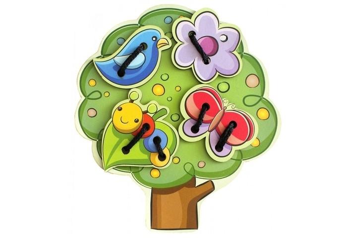 Деревянные игрушки Фабрика Мастер игрушек Шнуровка Дерево IG0072