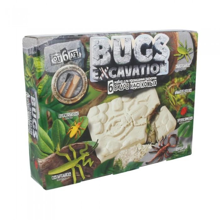 Наборы для опытов и экспериментов Danko Toys Набор проведения раскопок Bugs Excavation Насекомые (богомол, скорпион жуки)