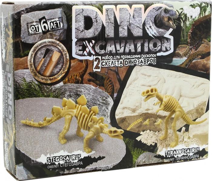 Наборы для опытов и экспериментов Danko Toys Набор проведения раскопок Dino Excavation Динозавры (Стегозавр Тираннозавр)