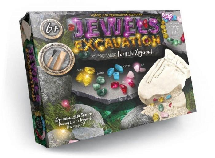 Наборы для опытов и экспериментов Danko Toys Набор проведения раскопок Jewerly Excavation Горный хрусталь