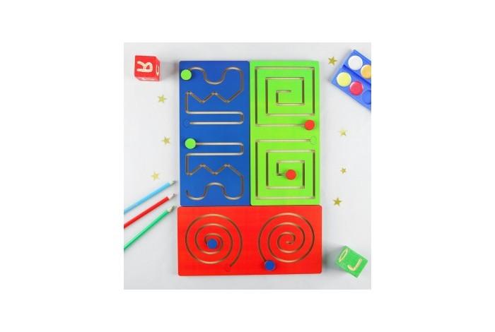 Деревянная игрушка Фабрика Мастер игрушек Лабиринт Полушарные доски фото