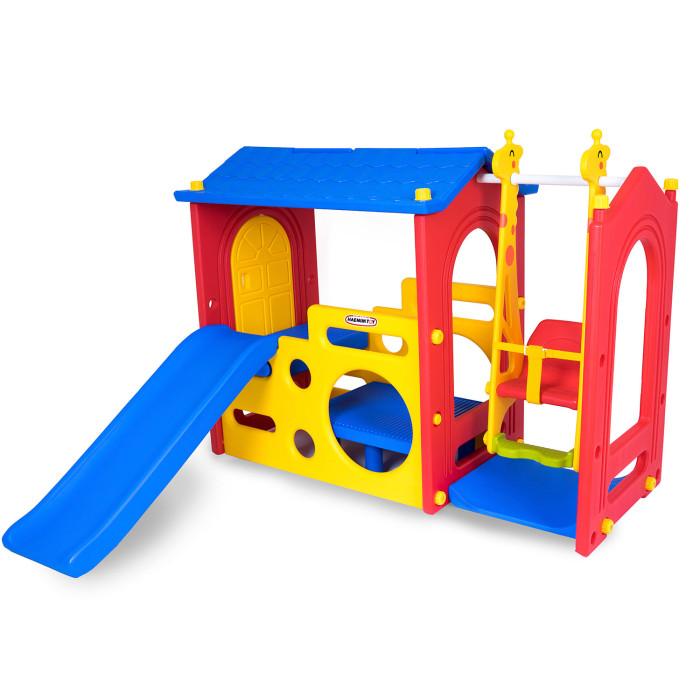 Купить Игровые комплексы, Haenim Toy Игровой комплекс Дом с горкой и качели