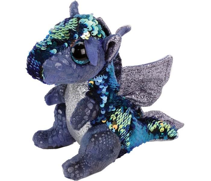 Купить Мягкие игрушки, Мягкая игрушка TY Дракон с пайетками 25 см