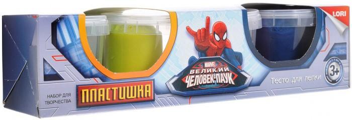 Lori Пластишка Человек Паук 4 цвета 115 г lori тесто для лепки человек паук 4 цв