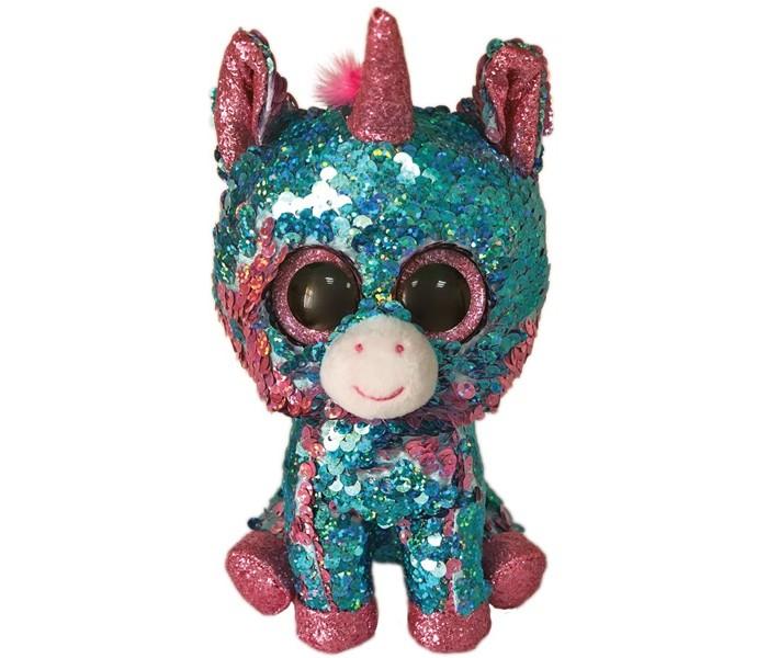Купить Мягкие игрушки, Мягкая игрушка TY Единорог разноцветный с пайетками 25 см