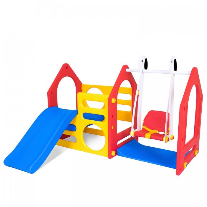 Haenim Toy Игровой комплекс Дом с горкой и качелями фото