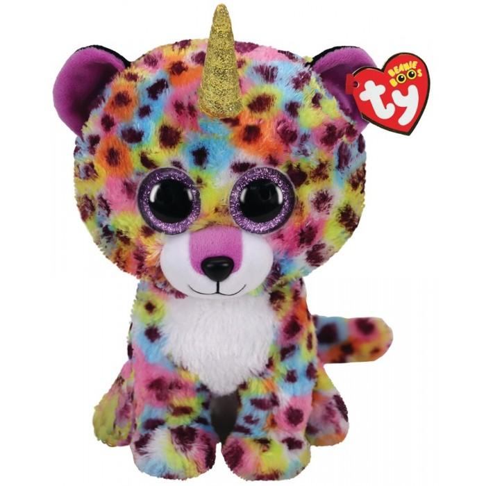 Купить Мягкие игрушки, Мягкая игрушка TY Жизель леопард радужный 25 см