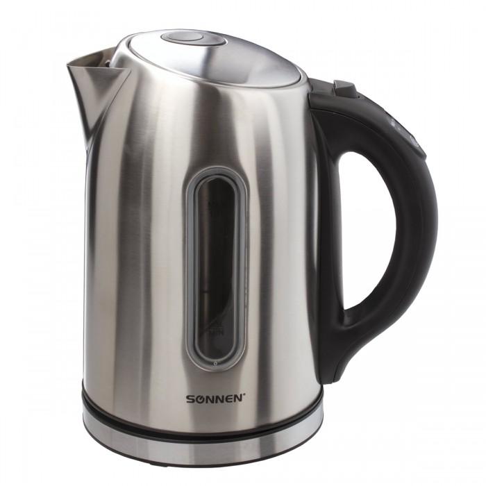 Купить Бытовая техника, Sonnen Чайник KT-1740 нержавеющая сталь с терморегулятором 1.7 л