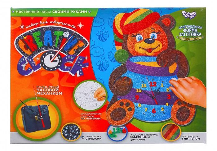Наборы для творчества Danko Toys Набор Часы Creative clock Медвежонок