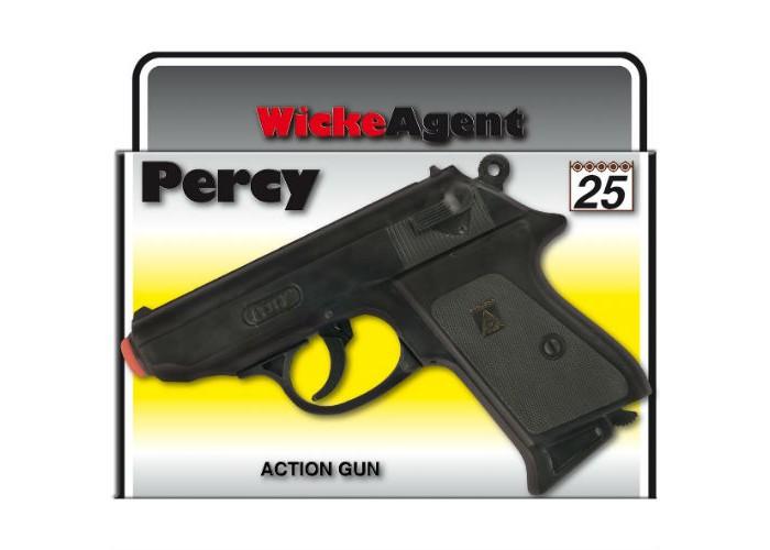 Фото - Игрушечное оружие Sohni-wicke Пистолет Percy 25-зарядные Gun Agent 158mm в коробке игрушечное оружие sohni wicke пистолет texas rapido 8 зарядные gun western 214mm