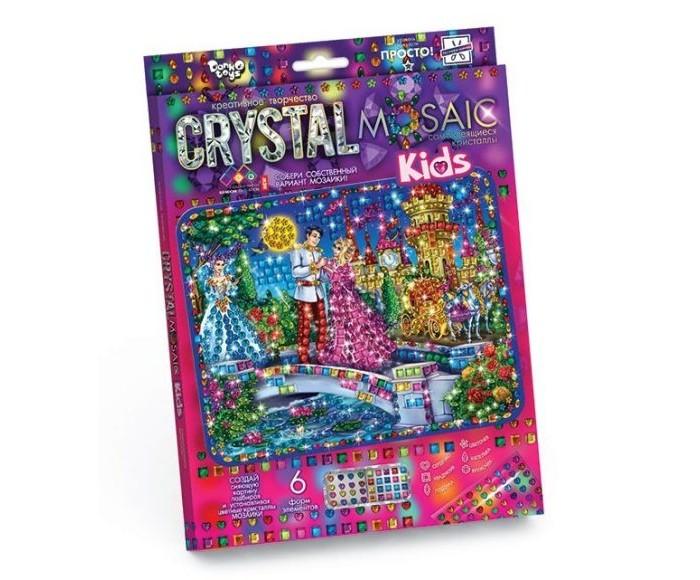 Картины своими руками Danko Toys Набор креативного творчества Crystal Mosaic Kids Золушка