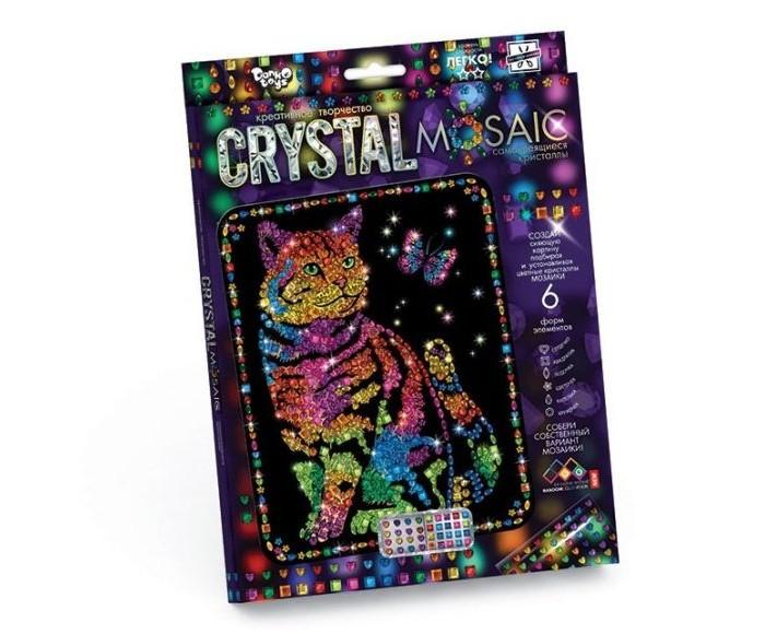 Картины своими руками Danko Toys Набор креативного творчества Crystal Mosaic Кот с бабочкой