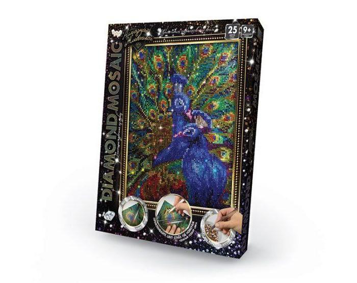 Картины своими руками Danko Toys Набор креативного творчества Diamond Mosaic малый Павлин