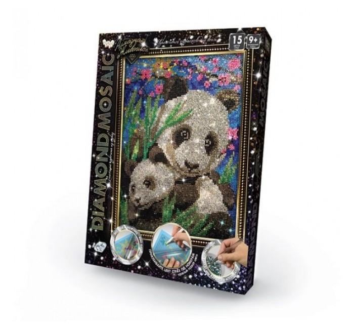 Картины своими руками Danko Toys Набор креативного творчества Diamond Mosaic малый Панды